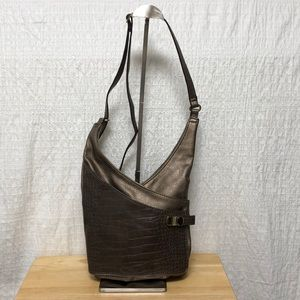 Bronze/brown cross body purse